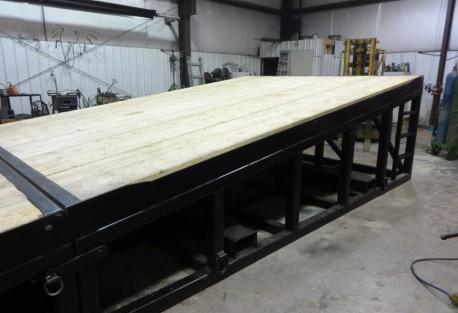 rig ramp wood deck