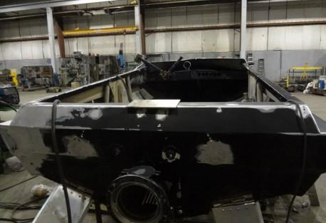 rear view of repairs