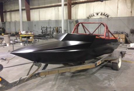 Repaired jet boat